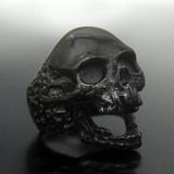 Anillo  Black Plague  - Calavera Negra
