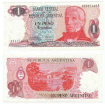 Argentina, Billete De 1 Peso Argentino, Bottero 2604, -sc-