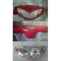 Juego Optica Cubre Opticas, Cubre Tablero Zanella Zb110 Rojo