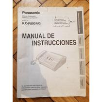 Manual De Instrucciones Panasonic Panasonic Fax De Kf-f890ag