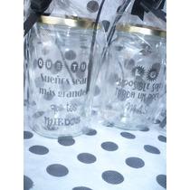 Frascos Vasos Vidrio Personalizados Completos