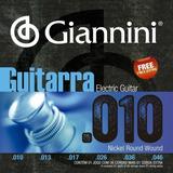 Giannini (brasil),  Encordado Guit. Eléctrica 6 Cuerdas .010