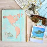 Cuaderno Organizador De Viaje Mapamundi