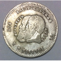 Moneda Bolivia 1/2 Melgarejo 1865. Plata
