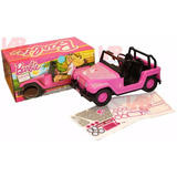 Jeep Auto Barbie Original Con Stickers Rosa Bebe Lelab