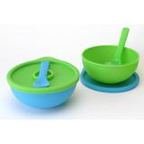 Bowls De Silicona Con Tapa Y Cuchara Tatoon Punto Bebé
