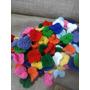 Flores Tejidas Al Crochet Lana Acrilica Precio X 50 Unid
