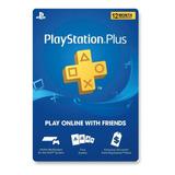 Psn Plus 12 Meses 1 Año Playstation Ps3 Ps4 | Psntech