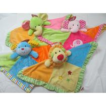 Mantitas De Apego Con Sonajero Suaves Y Coloridas Para Bebe
