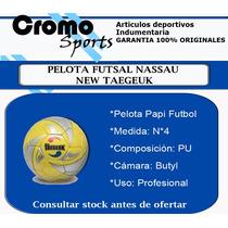 Pelota Nassau Papi Taegeuk N 4 Futsal Medio Pique Original en venta ... 5766be8d257ab