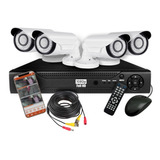Kit Seguridad Dvr 4  Full Hd 4 Camaras Hd Infrarroja Hdmi Ip
