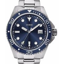 Reloj Guess Hombre W0610g1 Fondo Azul Original Oficial