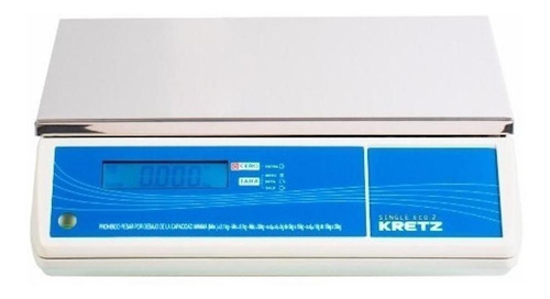 Balanza Comercial Digital Kretz Single Eco 30 Kg 110v/220v Blanco
