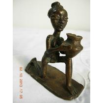 Espectacular Antigua Figura De Bronce Petit Vienes Miniatura
