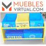 Mueble Infantil - Organizador 5caj. De Tela Boca Juniors