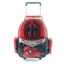 Mochila Escolar Spiderman 3d Con Carro 12 Pulgadas Marvel