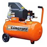 Compresor De Aire Lusqtoff  50 Lts Litros + Kit 5 Piezas