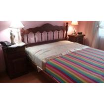 Juego Dormitorio Algarrobo 2 Plazas Usado