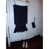 Vestido Negro Las Oreiro Talle L
