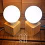 Lámpara Madera De Pallet Reciclada Con Cable Textil De Color