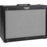 Amplificador Fender Hot Rod Series Deluxe Iii Valvular 40w Negro Y Plata 220v