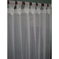 Cortina Voile Transparente 2 Paños 2.10x1.40 Lista P/colgar!