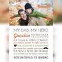 Cartel Lamina - Regalo Dia Del Padre - Personalizado Impreso