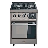 Cocina Morelli Zafira 600 4 Hornallas  Multigas Acero Inoxidable 220v Puerta Visor
