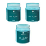 Combo 3 Potes De Gel Neutro - Biobellus 1000ml C/u
