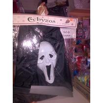 Disfraz De Scream Scrim Escrim Halloween Mascara Capa Y Acce