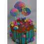 Tortas Personalizadas Infantiles Golosinas Drip Cake 15
