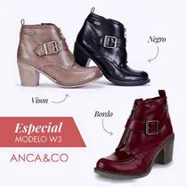 Botas Anca Co Taco Borcegos Zapatos Oferta Liquidación Promo