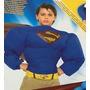 Disfraz Superman 2 A 7 Años Inflable Electronico Musculoso