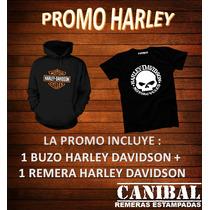 Promo Buzo + Remera Harley Davidson Canibal