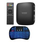 Kit Tvbox Gadnic Tx-1100 Premium + Teclado Inalámbrico