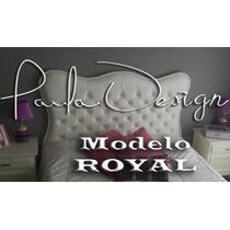 Respaldos Sommier Capitoné Modelo Royal 2 Plazas Y 2 1/2