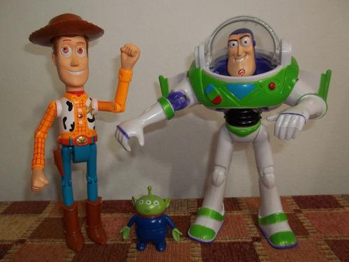 7fd1f07dbe82f Toy Story Woody + Buzz 25cm Muñecos C  Luz Sonido Super Gdes