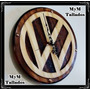 Reloj Volkswagen Tallado En Madera