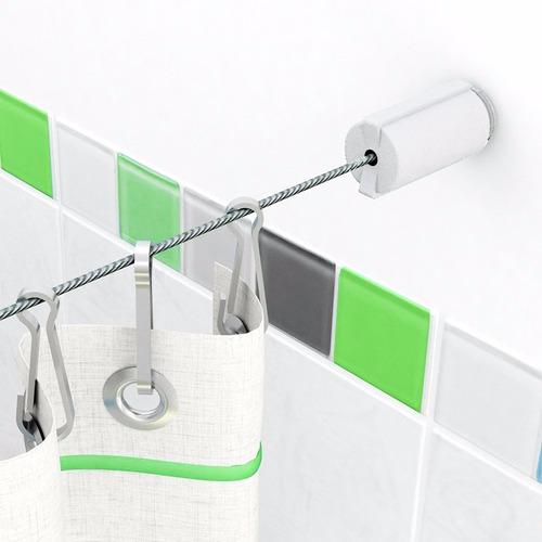 Kit Tensor Para Cortina Baño Lisboa Blanco 16.50b Aquaflex