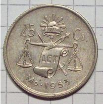 Mexico 25 Centavos Plata 1953