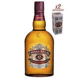 Whisky Chivas Regal 12 Años - 2 Botellas X 1 Lts Con Estuche