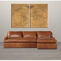 Mapas Antiguos Composicion Diptico 120cm X 80cm
