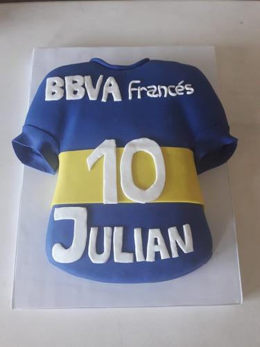Torta Decorada Camiseta Boca Futbol Cumpleaños En Venta En