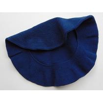 Boina De Hilo De Algodón Color Azul