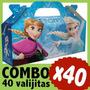 Frozen Cajita Valijita Bolsita Cajita Souvenir Combo X40