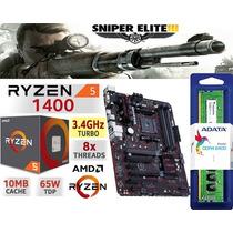 Combo Actualizacion Pc Ryzen 5 1400 Mother 16gb Ddr4 Hdmi