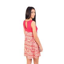 Vestido Corto Sin Mangas,fibrana,modal,vanesa Lamura