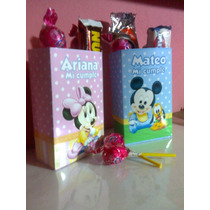 Kit Imprimible Cajitas Mickey Mouse Y Minnie Mouse