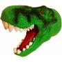 Juguete Cabeza De Dinosaurio Rex Titere De Goma Mataderos