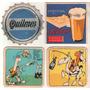4 Posavasos Cerveza Quilmes Y Schlau Ntiguos